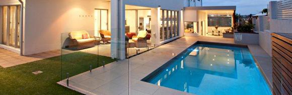 Beautiful integrated pools by H2O
